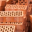 Red Construction Bricks Stones Pile — Stockfoto #68903761