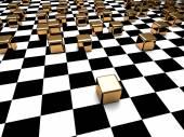 Abstract Cube Blocks Checker Background — Stock Photo