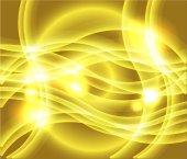 黄色背景矢量的波浪 — 图库矢量图片