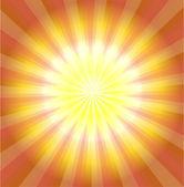 Abstracte geel laser lichte achtergrond vector — Stockvector