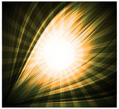 Abstract yellow background Beautiful rays of light — Stock Vector