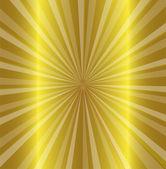 Burst stars descending on a path of golden light — Stock Vector