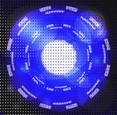 Halftone circle background — Stock Photo