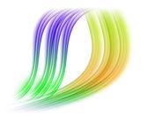 Multicolored wave background vector — Vettoriale Stock