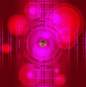 Abstract red background with circle light grid — Foto Stock