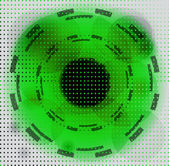 Halftone circle background — Foto Stock