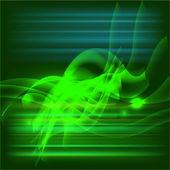 Dark green abstract swirl background vector — Vettoriale Stock