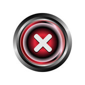 Decline deny reject icon button — Stock Vector