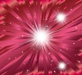ピンク スター バースト背景ベクトル — ストックベクタ