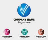 Sign the letter V branding corporate symbol victory isolated — Vecteur