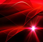 Realistic star burst with flare red background — Stock Photo