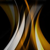 Yellow wave abstract background — Stock Photo