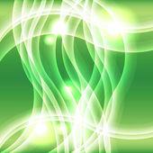緑色のライト効果を波背景 — ストック写真