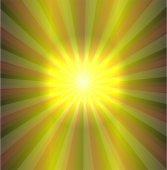 在绿色背景上的矢量太阳 — 图库矢量图片