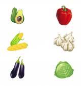 Vegetables vector collection — Stock Vector