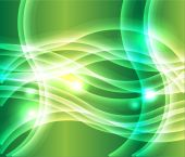 Waves of light green background vector — Stock Vector