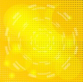 Yellow Background with Circle — Stok Vektör