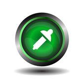 Color picker button sign vector — Stock Vector