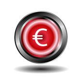 Euro button vector — Stock vektor