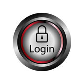 Login button icon Vector — Stock Vector