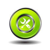 Work tool button icon vector — Stock Vector