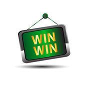 赢赢图标按钮标签 — 图库矢量图片