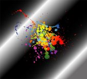 Abstract artistic black Background of colorful — Vector de stock