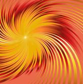 Abstract orange metallic background with swirl — Vector de stock
