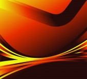 Abstract wave background orange color glowing — Vector de stock