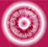 Grunge circles pink background — Vector de stock