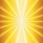Hot sun halftone illustration — Vector de stock