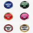 About us icon button — Stock Vector #56384297