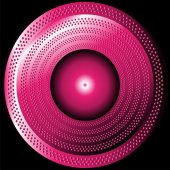Abstract circle purple background with halftone — 图库矢量图片