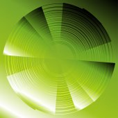 Abstract circles vector green background — Vettoriale Stock