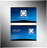 Modern green blue business card template — Stock Vector