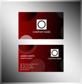 Stylish dark business card template — Stock Vector