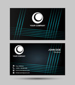 A black and blue grid Business card — Stock Vector