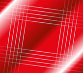 Abstract stripes square on red background — Stock Vector