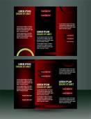 Red  Brochure flyer design Layout vector template — Stock Vector