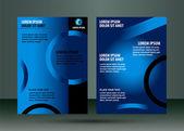 Leaflet template design — Vector de stock