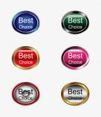 Best choice sign icon button — Stock Vector