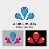 Business Corporate Abstract infinity vector logo design template — Vector de stock
