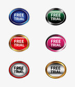 Free trial icon button — Vector de stock