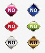 No icon button set — Stock Vector