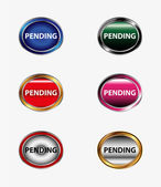 VPending icon button — Vector de stock