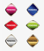 Pending isolated button sign — Vector de stock