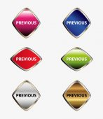 Previous button set — Stockvector