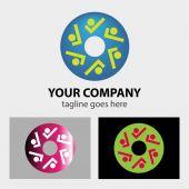 Team, friendship, partnership, society creative web concept sign logo — Stock Vector