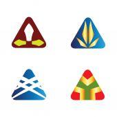 Triangle logo icons set — Stock Vector