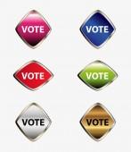Oy düğme kümesi — Stok Vektör